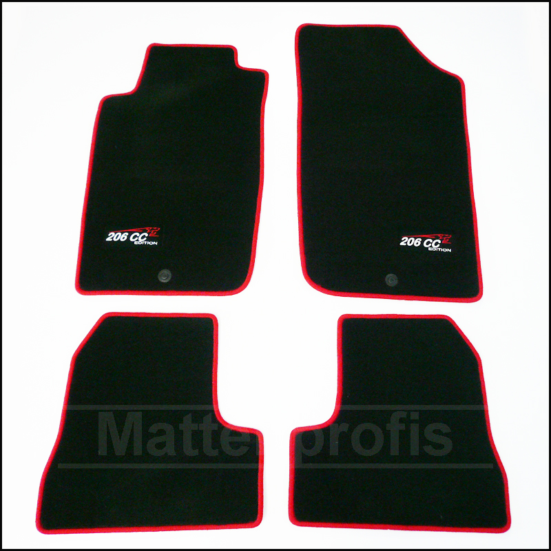 tapis velour peugeot 206 cc coupe rc cup haut de gamme 01 2001 02 2007 ebay. Black Bedroom Furniture Sets. Home Design Ideas
