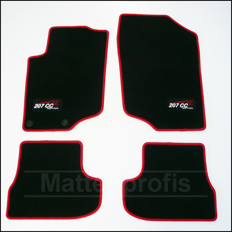 tapis velour peugeot 207 cc coupe rc cup haut de gamme. Black Bedroom Furniture Sets. Home Design Ideas