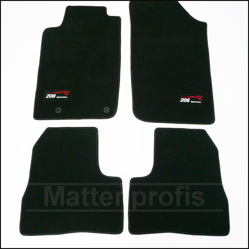 tapis velour peugeot 206 206 sw rc cup haut de gamme. Black Bedroom Furniture Sets. Home Design Ideas
