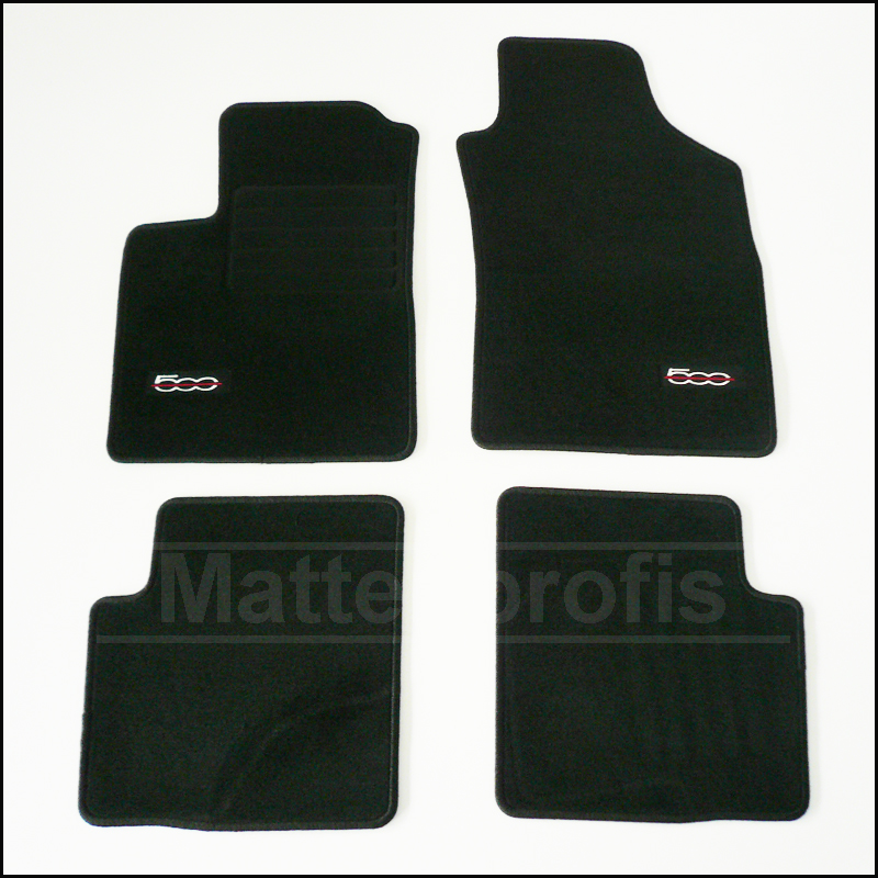 tapis velour fiat 500 c depuis le 09 2009 abarth velour haut de gamme cabriolet ebay. Black Bedroom Furniture Sets. Home Design Ideas