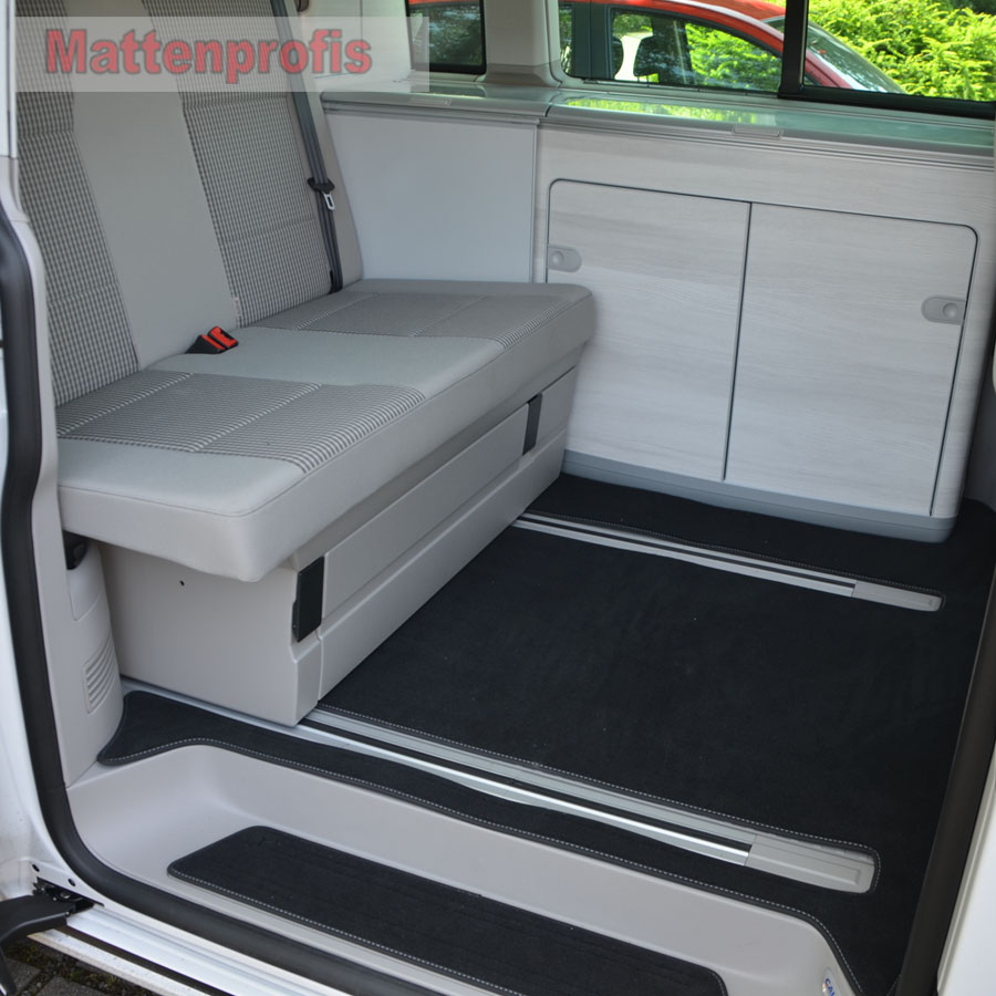 premium velour fu matten komplett f r vw t6 california coast k che ab ebay. Black Bedroom Furniture Sets. Home Design Ideas
