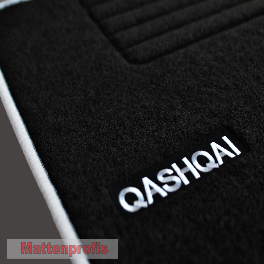 f r nissan qashqai ii j11 ab velours logo. Black Bedroom Furniture Sets. Home Design Ideas