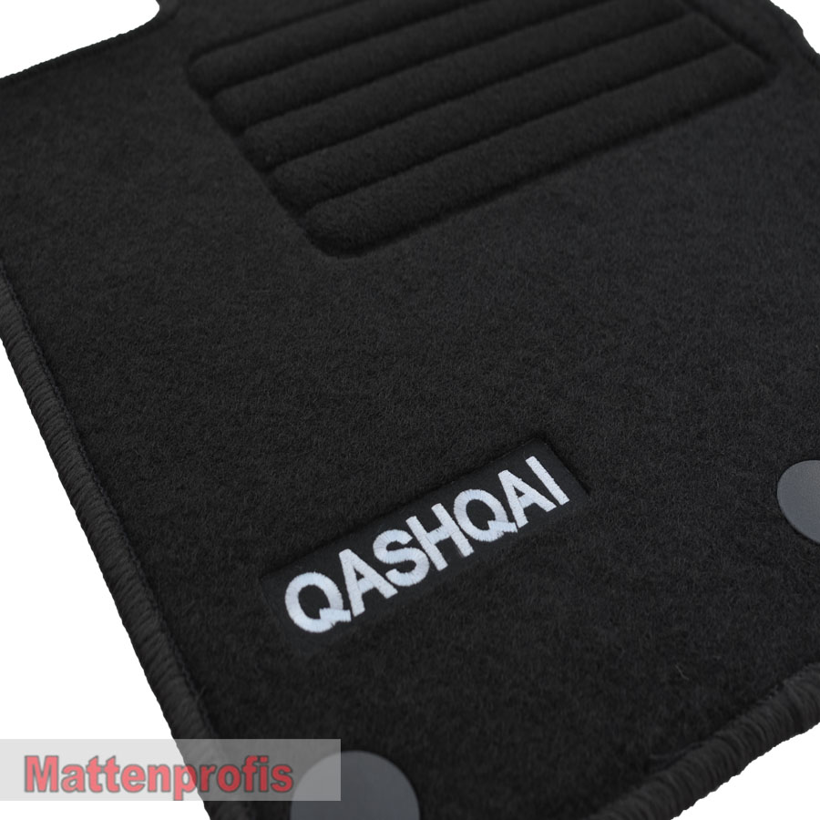 velour logo edition tapis de sol pour nissan qashqai ii. Black Bedroom Furniture Sets. Home Design Ideas