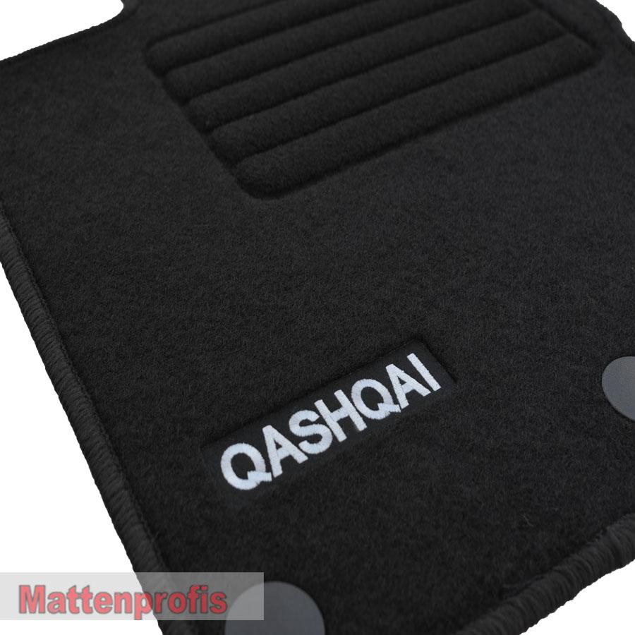 velour logo edition tapis de sol pour nissan qashqai ii j11 ab bj 02 2014 sw ebay. Black Bedroom Furniture Sets. Home Design Ideas