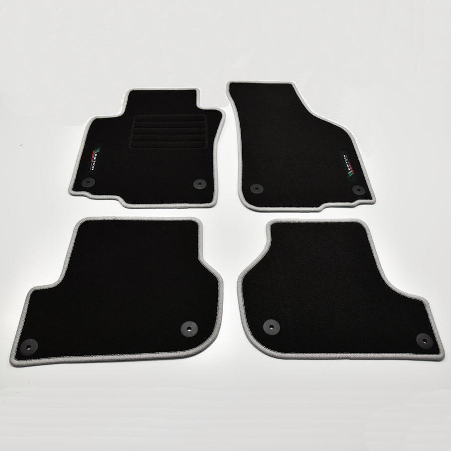 Velours Fußmatten Edition für Skoda Octavia II 1Z ab Bj.2004-2013 runde Bef