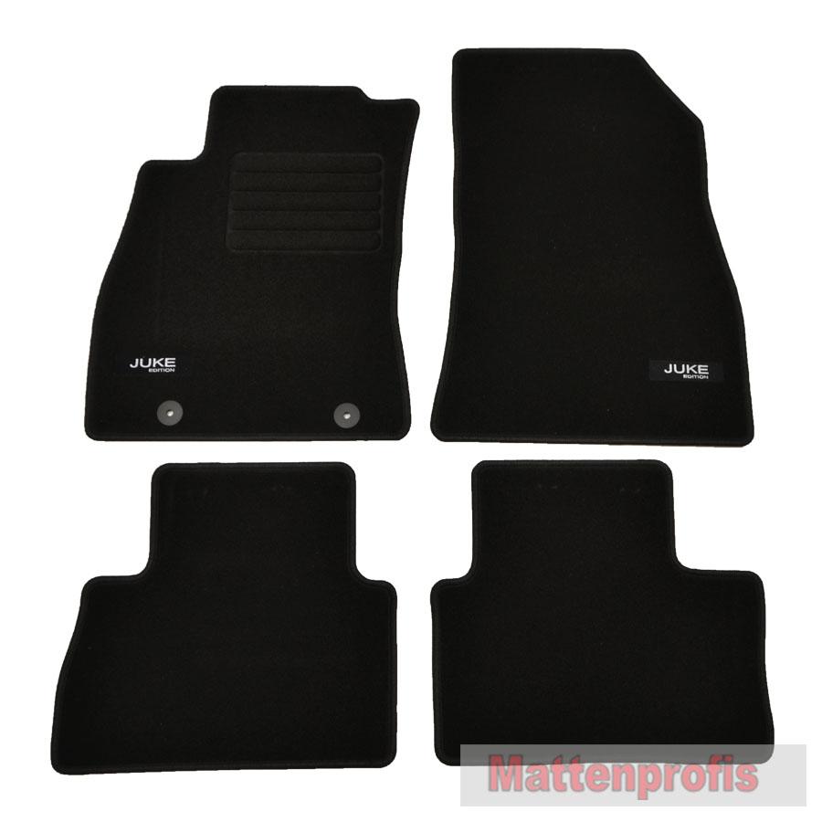 Mattenprofis Velours Fußmatten Edition 4-teilig für Nissan Juke ab Bj.06//2010