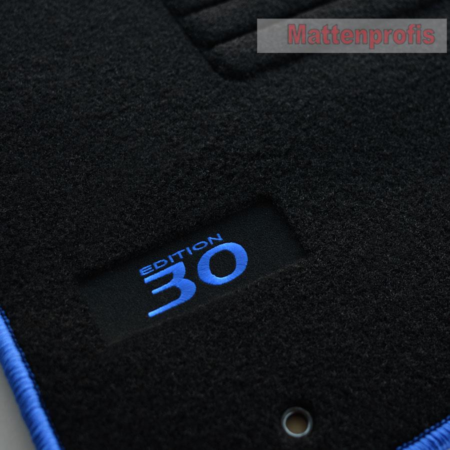 Velours Logo Fußmatten Autoteppiche für Hyundai i30 ab Bj.08//2007-2012