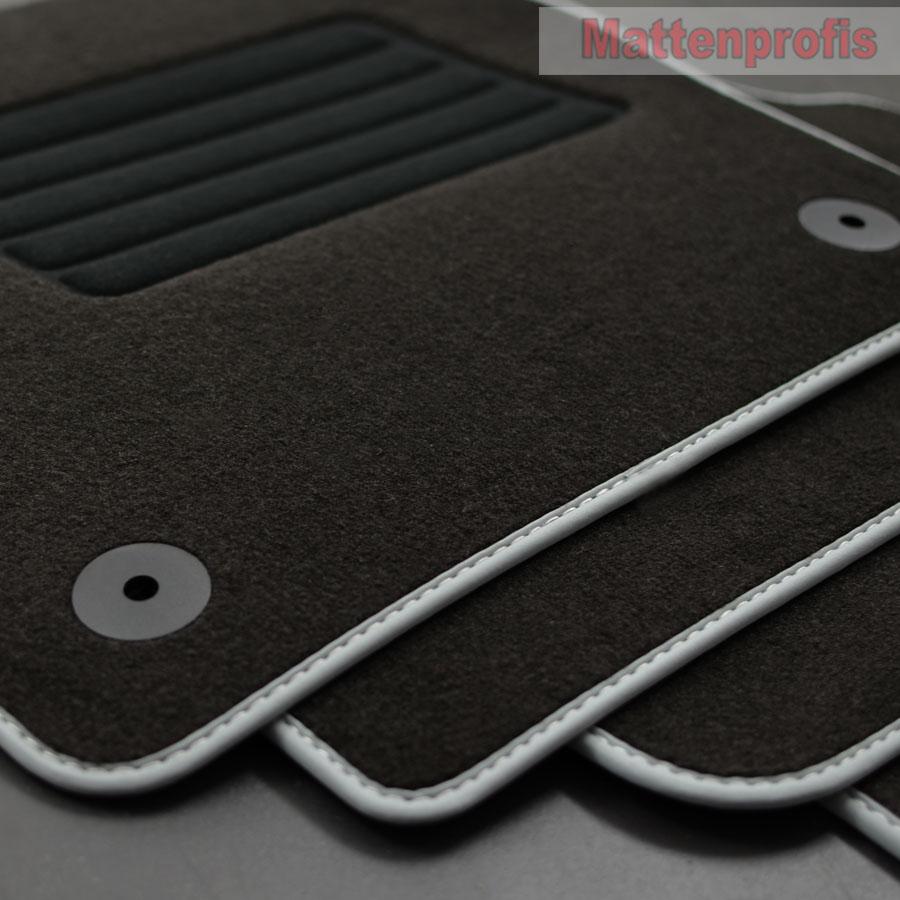 Mattenprofis Velours Fußmatten passend für VW Polo VI 6 Typ AW 2G Bj.09//2017 bl