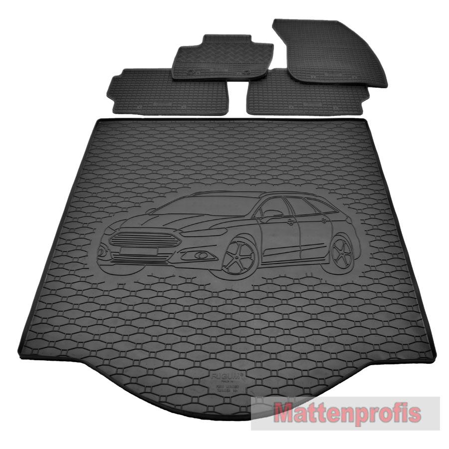 Antirutsch Gummi-Kofferraumwanne für Ford Mondeo Turnier ab 2007-2014