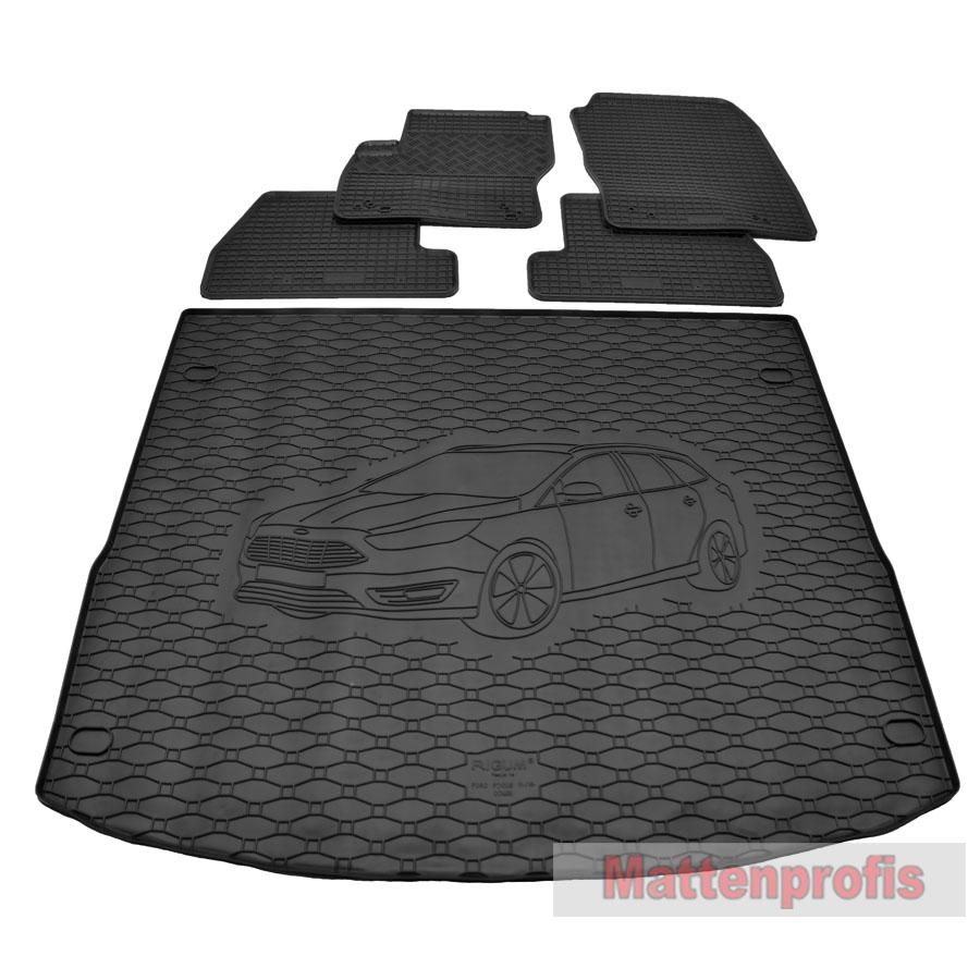 Allwetter Fußmatten Gummimatten für Ford Focus III Bj ab 2011 bis heute