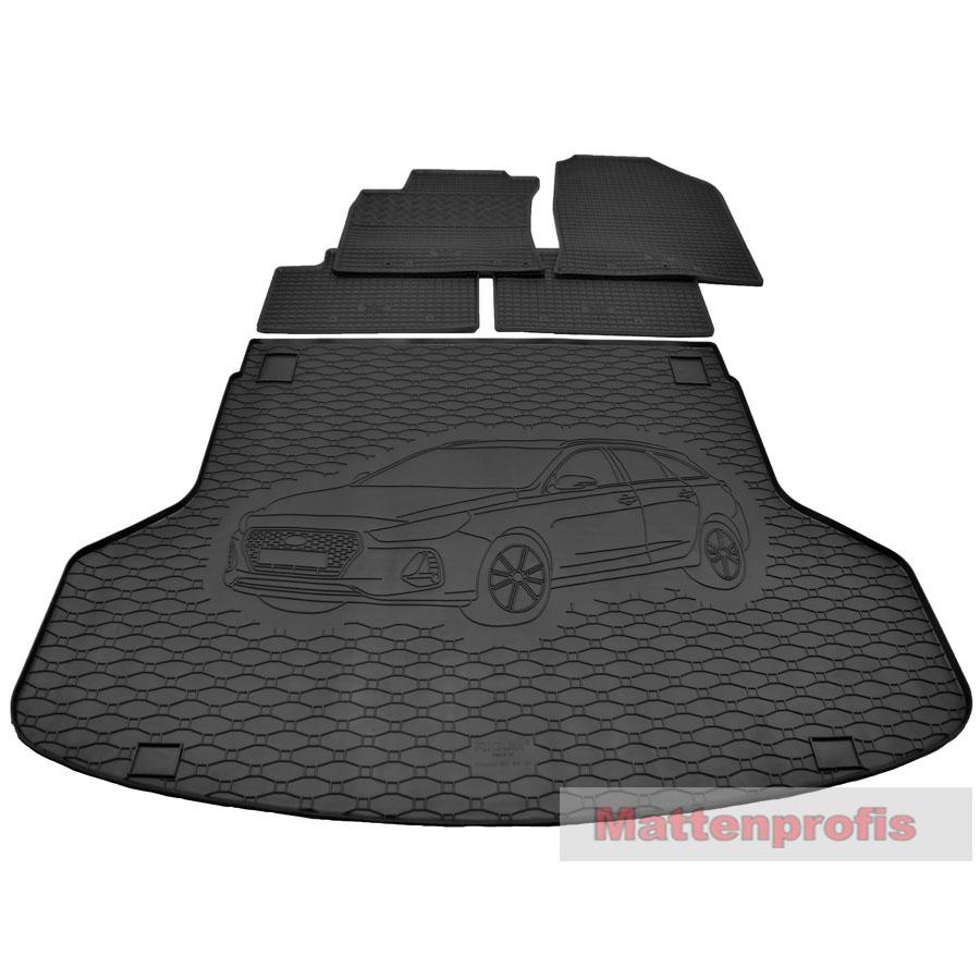 sw 01.2017 Velours Fußmatten Edition für Hyundai i30 Typ PDE Schrägheck ab Bj