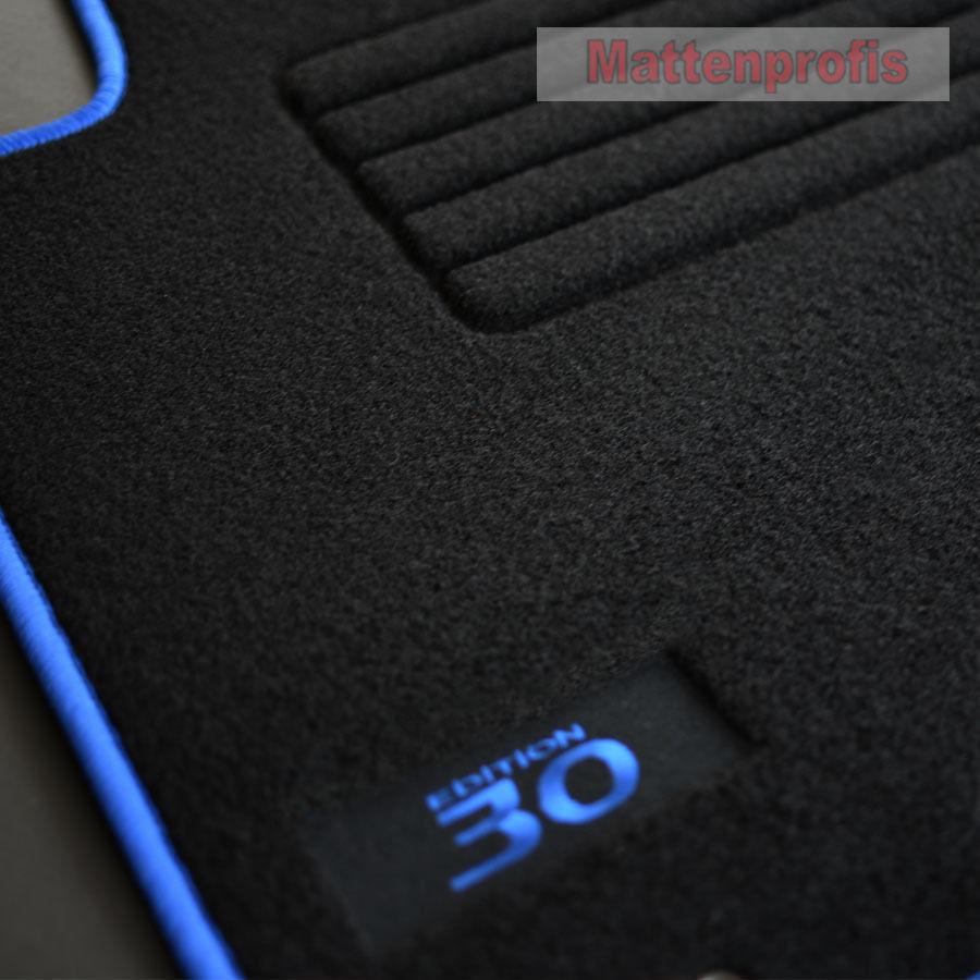 MP Velours Fußmatten Logo Autoteppiche für Hyundai i30 CW FD Bj 2007-2012 sil