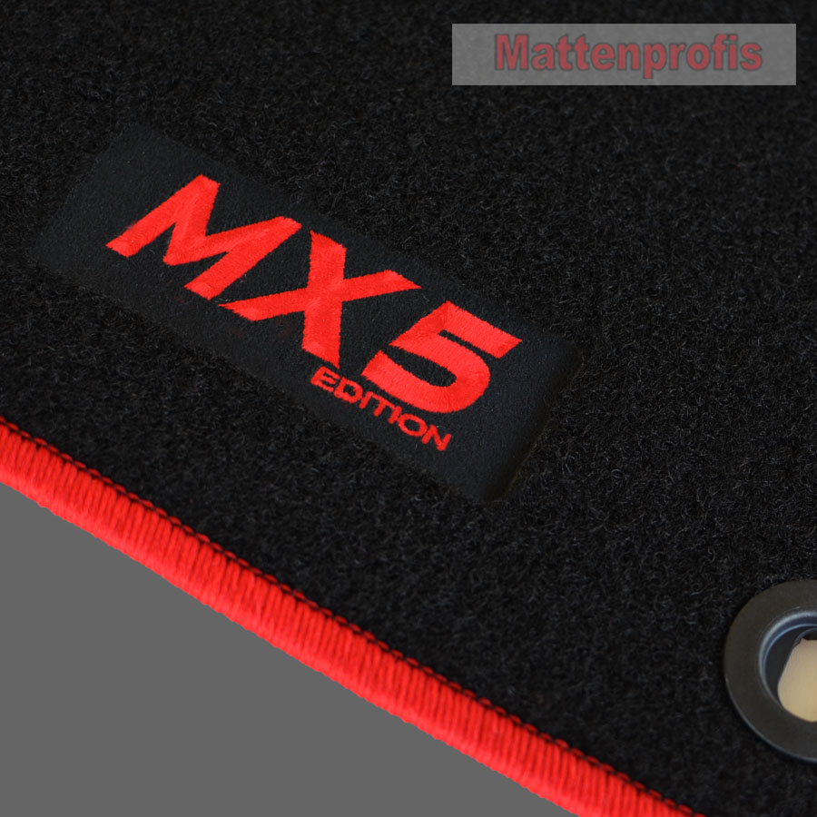 Autoteppiche//Fußmatten für  Mazda MX-5 Typ NA,NB Bj.1990-2005 schwarz