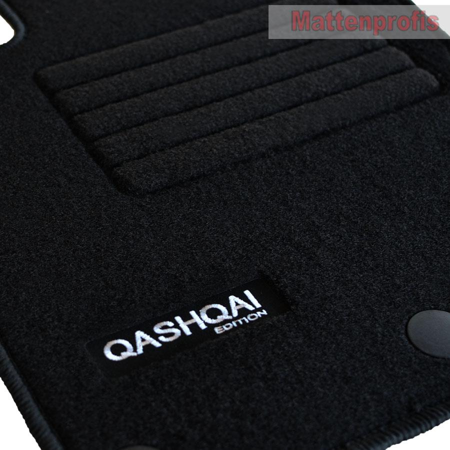 MP Velours Logo Fußmatten Autoteppiche für Nissan Qashqai II J11 ab Bj.02//2014