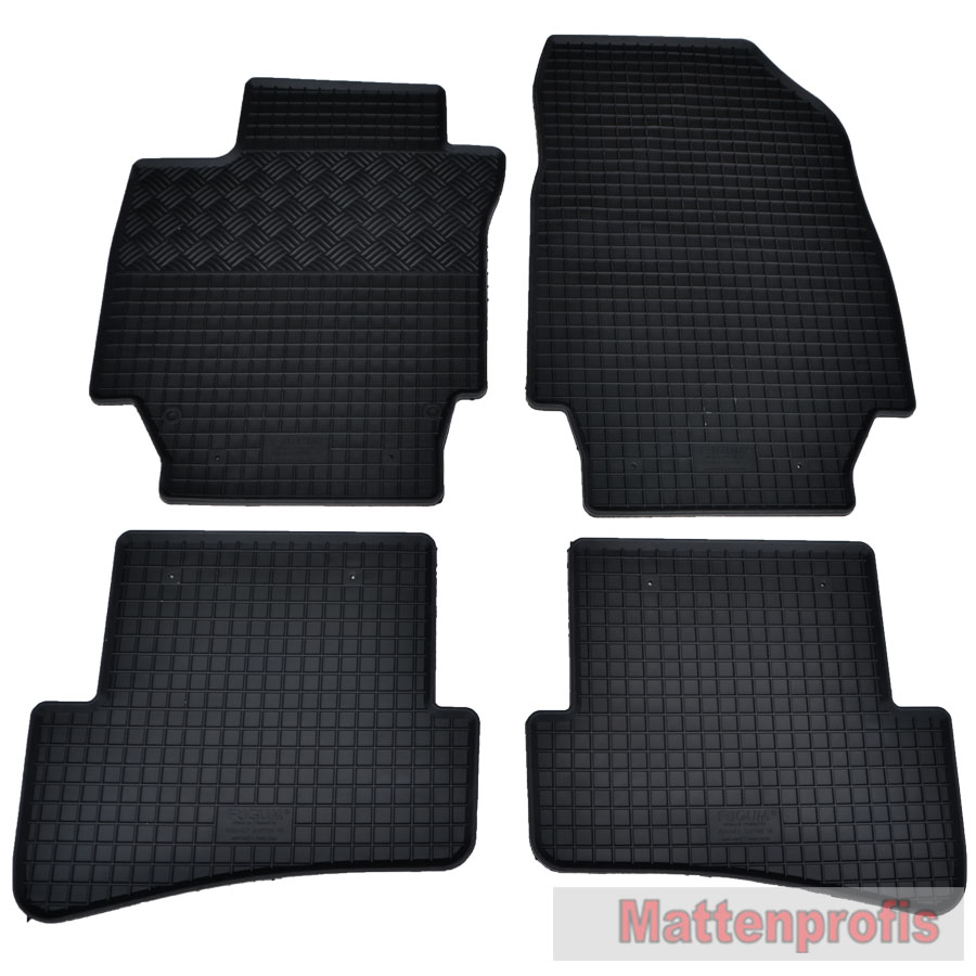 gummimatten gummifu matten 4 teilig f r renault captur ab bj 06 2013 ebay. Black Bedroom Furniture Sets. Home Design Ideas