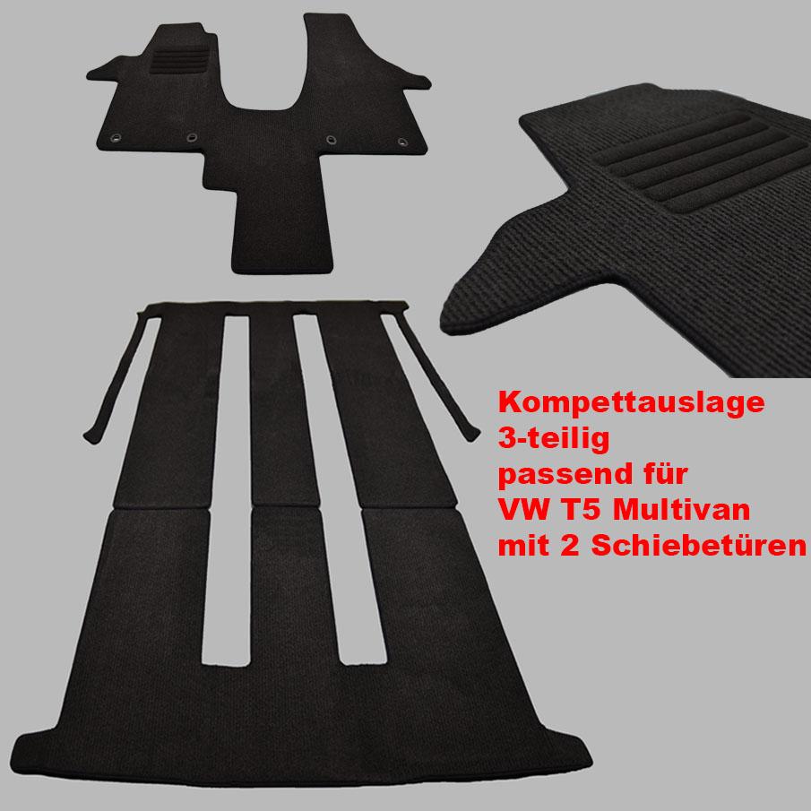 MP Gummimatten Gummifußmatten Komplettauslage für VW T5 Multivan Bj 2003-2015