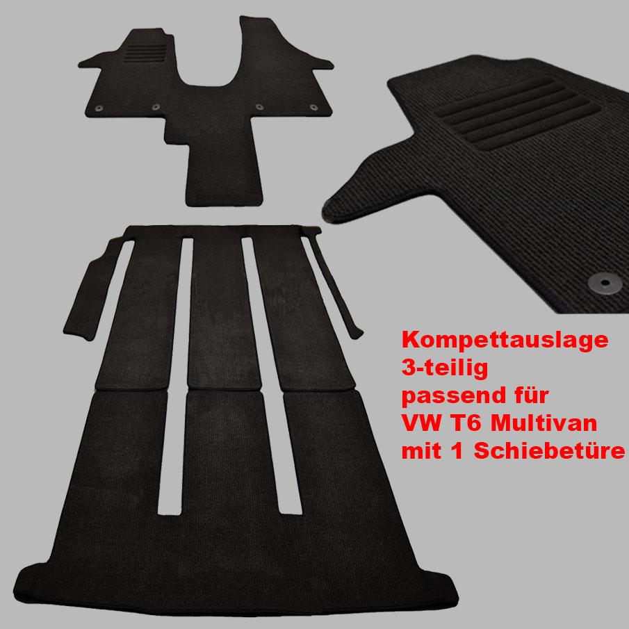 Velours Fußmatten Komplettauslage für VW T6 Multivan 1 Schiebetüre ab Bj.04//2015