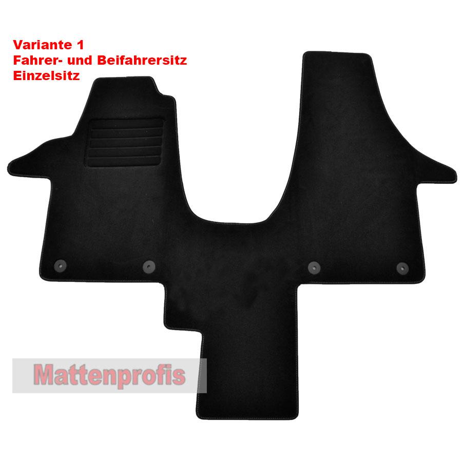 Premium Velour Fußmatten Komplettauslage für VW T6 //2 Caravelle ab Bj 2015