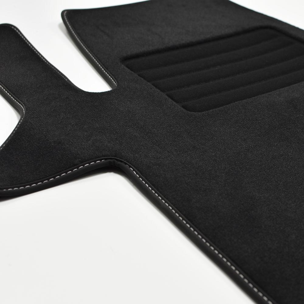 MP Premium Velour Fußmatten passend für VW T6.1 2-Einzelsitze vorn ab Bj.2020 sw